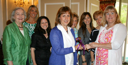 Friends of Matheny officers, from left: Jean Wadsworth, recording secretary; Andrea Szott, vice president, fundraising; Lisa Lee, vice president, fundraising; Liz Geraghty, president; Dorothy Carter, vice president, membership; Lisa Novella, corresponding secretary; Nancy Hojnacki, vice president, membership; and June Cioppettini, immediate past president.