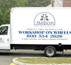 Matheny workshop on wheels