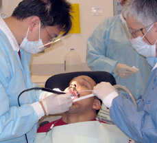 dentist treating adult with developmental disability