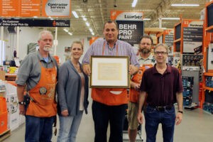 Home Depot _202 placque